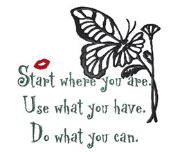 Start Where You Are embroidery design