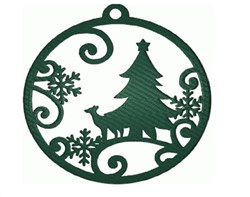 Christmas Ornament Silhouette embroidery design