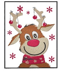 Christmas Rudolph embroidery design
