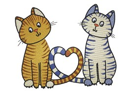 Kittens In Love embroidery design