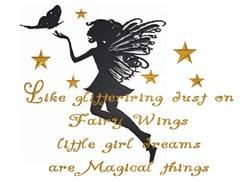 Glittering Fairy Silhouette embroidery design