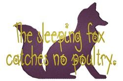 The Sleeping Fox embroidery design