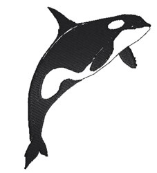 Whale silhouette embroidery design