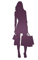 Girl Shopping Silhouette embroidery design