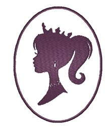 Princess Silhouette embroidery design