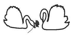 Swans Outline embroidery design