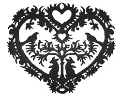 Heart Silhouette embroidery design
