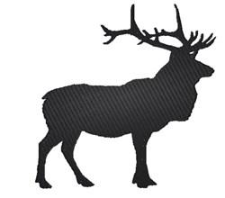 Elk Silhouette embroidery design
