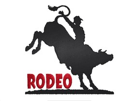 Rodeo Silhouette embroidery design