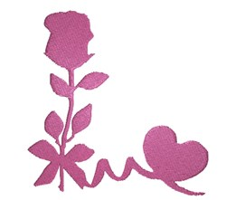 Valentines Silhouette embroidery design