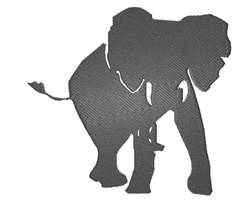 Elephant Silhouette embroidery design