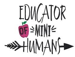Educator Of Mini Humans embroidery design