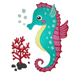 Cartoon Seahorse embroidery design