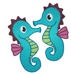 Seahorse Pair embroidery design