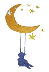 Swing On Moon embroidery design