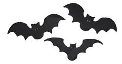 Bat Silhouette embroidery design