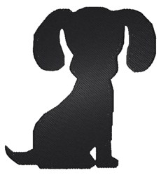 Puppy Silhouette embroidery design