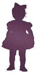 Little Girl Silhouette embroidery design