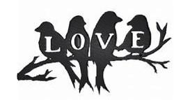 Love Birds Silhouette embroidery design