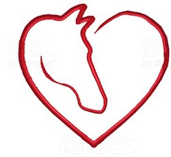 Horse Heart embroidery design