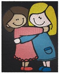 Friends Girls embroidery design