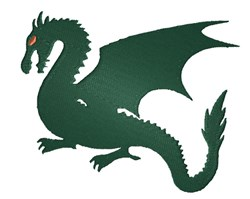 Fighting Dragon embroidery design