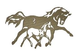 Horses Sillouette embroidery design