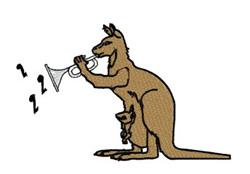 Kangaroo Trumpet embroidery design
