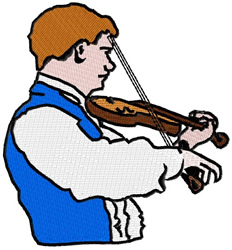 Violin Player embroidery design
