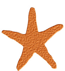 Seastar embroidery design