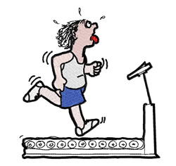 Treadmill Workout embroidery design