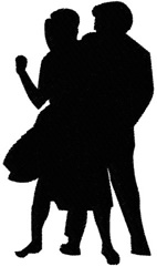 Fifties Dancers 1 embroidery design