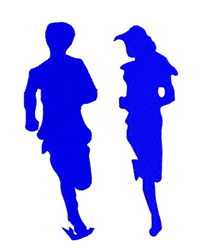 Couple Running 2 embroidery design