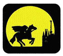 Headless Horseman embroidery design