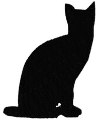 Cat Sitting embroidery design