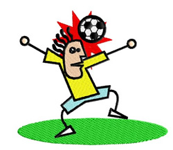 Stick figure Soccer embroidery design