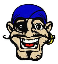 Pirate Mascot embroidery design