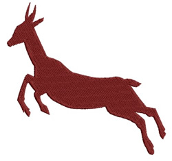 Jumping Deer embroidery design