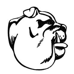 Bulldog Head Mascot embroidery design