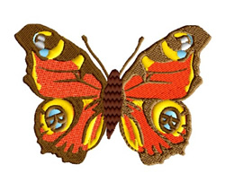 Exotic Butterfly embroidery design