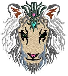 Lion Princess embroidery design