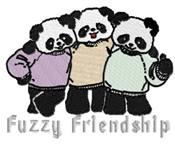 Fuzzy Friendship embroidery design
