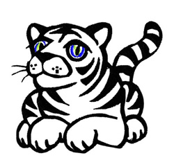 Tiger  Outline embroidery design