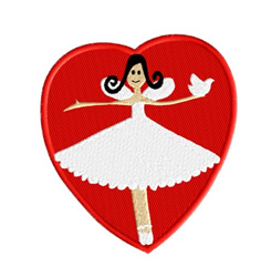 Heart With Fairy embroidery design