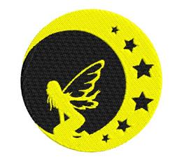 Moon Fairy embroidery design