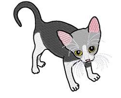 Wild Kitty embroidery design