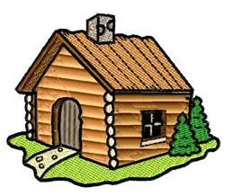 Log Cabin embroidery design