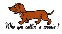 A Weenie embroidery design