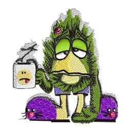 Morning Monster embroidery design