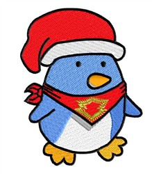 Penguin & Santa Hat embroidery design